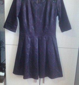 Платье коженное