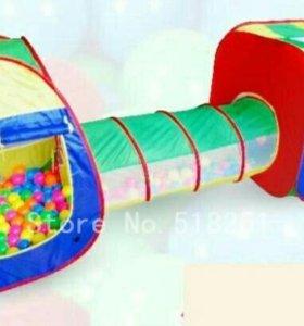 Игровая двухкамерная детская палатка с переходом