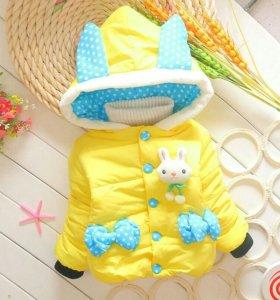 Куртка с капюшоном FUNNY BUNNY для девочек