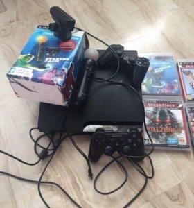 Продам Sony PlayStation 3 500г+кинект и игры