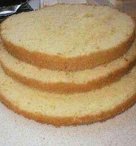 бисквит с кремом без украшений