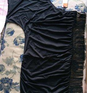 Платье с бахромой новое!