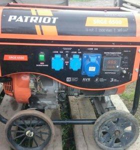 """Генератор """"PATRIOT"""" 6,5 кВт. В отличном состоянии"""