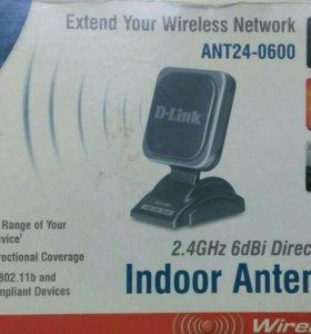 Антенна усилитель с удлинителем для WiFi роутера