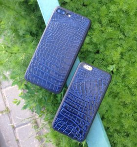 Кожаный чехол - Blue Croco для телефона