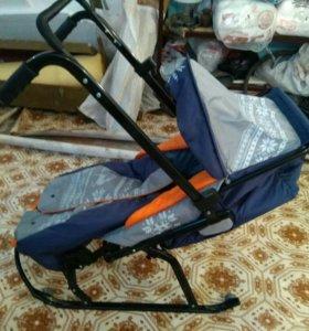 Продам детские сани BABY CARE