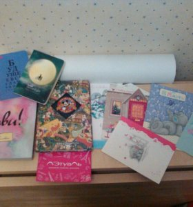 Блокноты, открытки, ватман