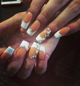 🎀АКЦИЯ🎀Покрытие ногтей гелем, наращивание