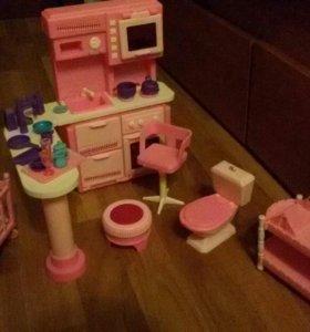 Мебель для кукол, барби, одежда для барби, кены