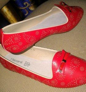 Туфли лоферы новые 39р-р