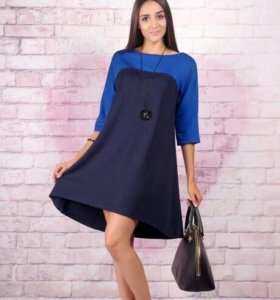 Платье тёмно-синее