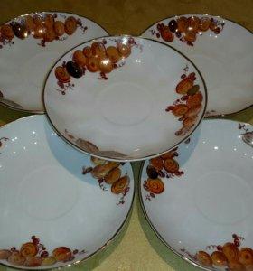 Блюдце ЛФЗ от сервиза Виноградная лоза редкие