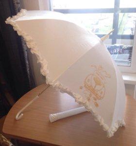 Зонт для свадебной фотосессии