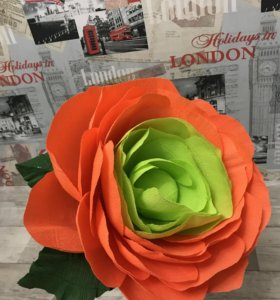Цветок 70 см из гофрированной бумаги