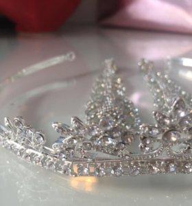 💍 серьги + диадема 👰🏼👑 свадебный комплект