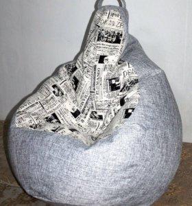 Кресло-груша из мебельной ткани.