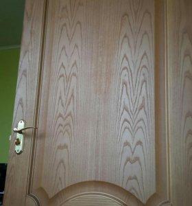 Дверь межкомнатная 80смх200см натурал дерево+короб