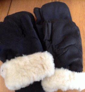 Армейские меховые рукавицы