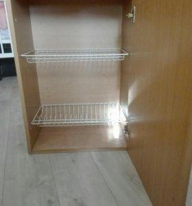 Кухонный шкаф с посудодержателем