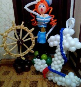 Воздушные шары, букеты, цифры, фигуры.