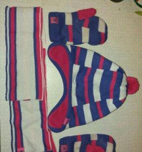 Шапка.шарф.варежки