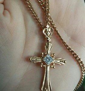 Крест 4гр. золото 585