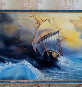 Картина холст, масло размер 50х80