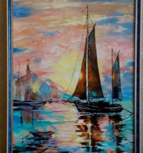 Картина масло, холст размер 50х70