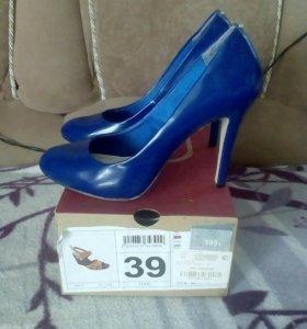 Туфли синие размер 39