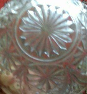 Конфетница-салатница полухрусталь