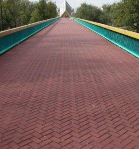 Тротуарная плитка Кирпичик, 20х10см, цвет красный