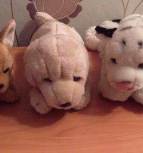 Игрушки мягкие Животные (Лабрадор и Тигр)