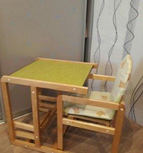 Стол-трансформер со стульчиком.