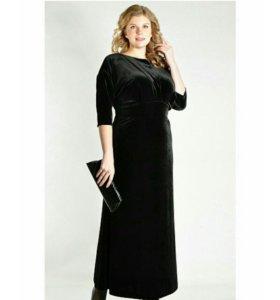 Шикарное бархатное платье р.50-52