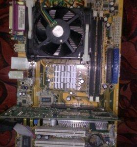 Мат. Плата, процессор и видеокарта.