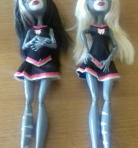2 куклы Монстр Хай- Пурсифона и Мяулодия