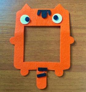 Новая фетровая наклейка на выключатель в детскую