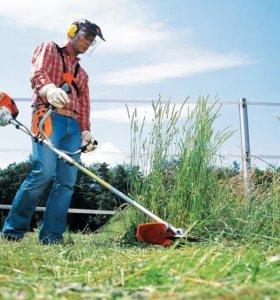Покос травы на участках в МО