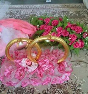 Свадебные украшение машина