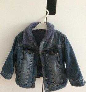 Джинсовая куртка 86р с подкладкой из ворса