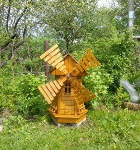 Садовая мельница своими руками