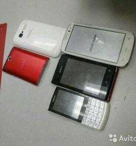 Телефоны Alcatel,SONY,NOKIA,на запчасти и востан.
