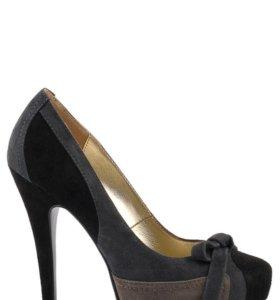 Santini чёрные туфли