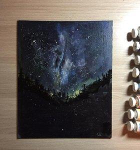 Картина маслом космос