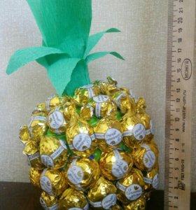 Букет из конфет (ананас)