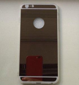 Новый зеркальный чехол на айфон 6 plus