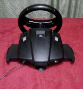 Джойстик руль для компьютера с педалями
