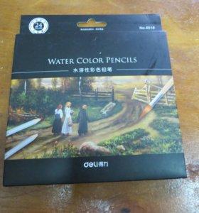 Набор акварельных карандашей Water color pencils