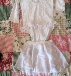 Купальник для гимнастики и танцев (юбка в подарок)