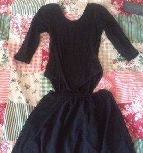 Купальник для гимнастики и танцев( юбка в подарок)
